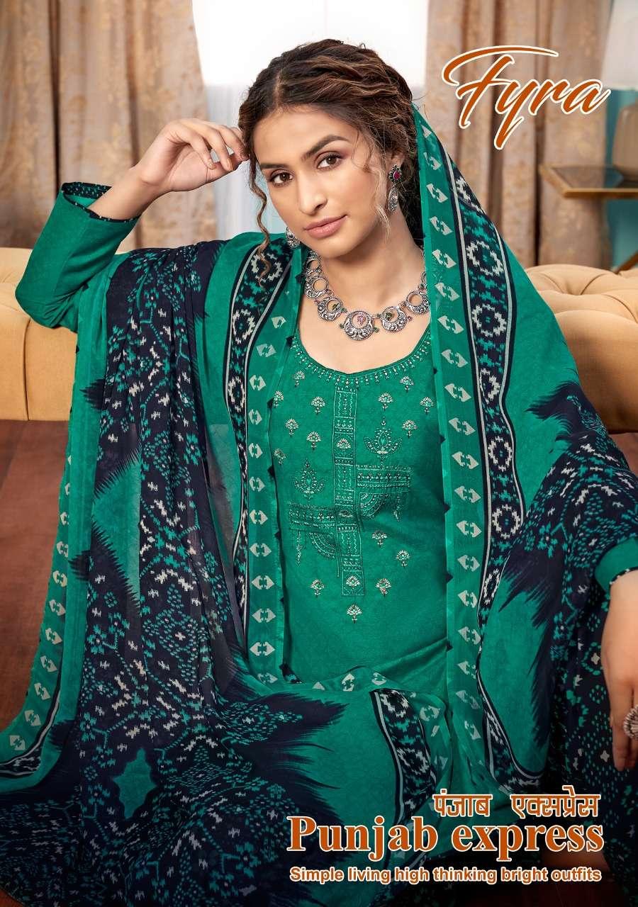 Fyra Punjab Express Vol 2 By Alok Suit Printed Patiala Suit Catalog Wholesaler