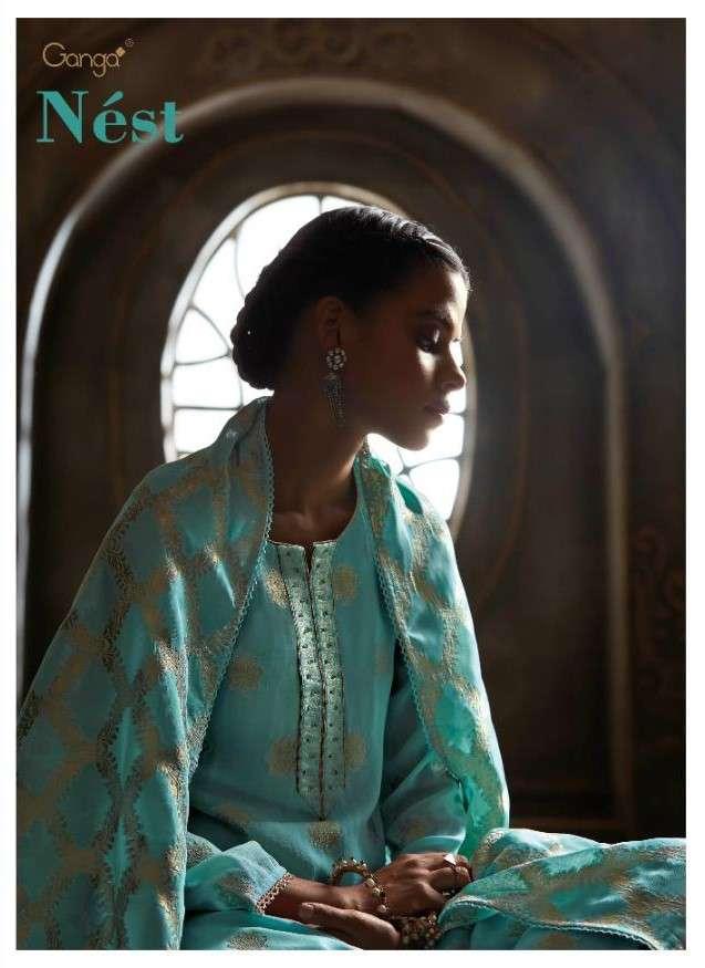 Ganga Fashion Nest Designer Party Wear Salwar kameez New Collection at Best Rate