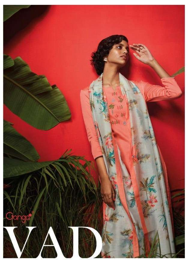 Ganga fashion Vad Designer Work Cotton Satin Salwar Kameez Catalog Supplier
