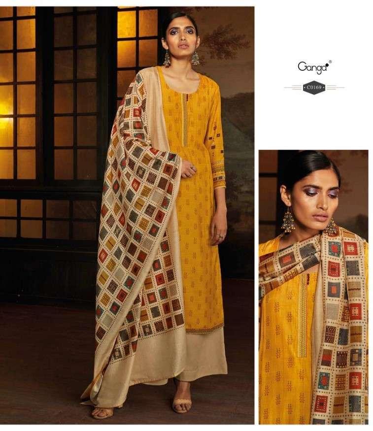 Ganga Hazely 169 Silk Salwar Suit Catalog Supplier
