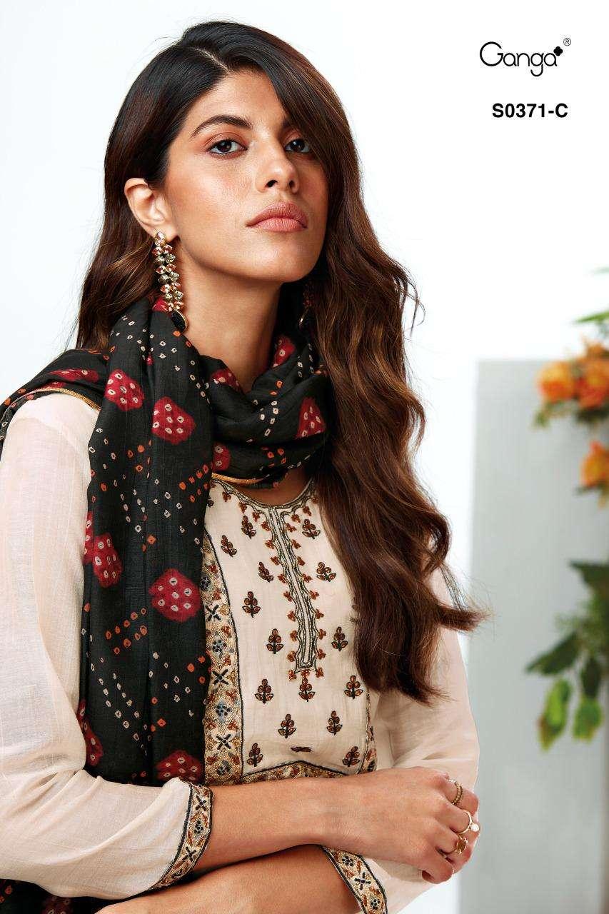 Ganga Vaani 371 Bemberg Silky Satin Salwar Suit Wholesale Price Dealer