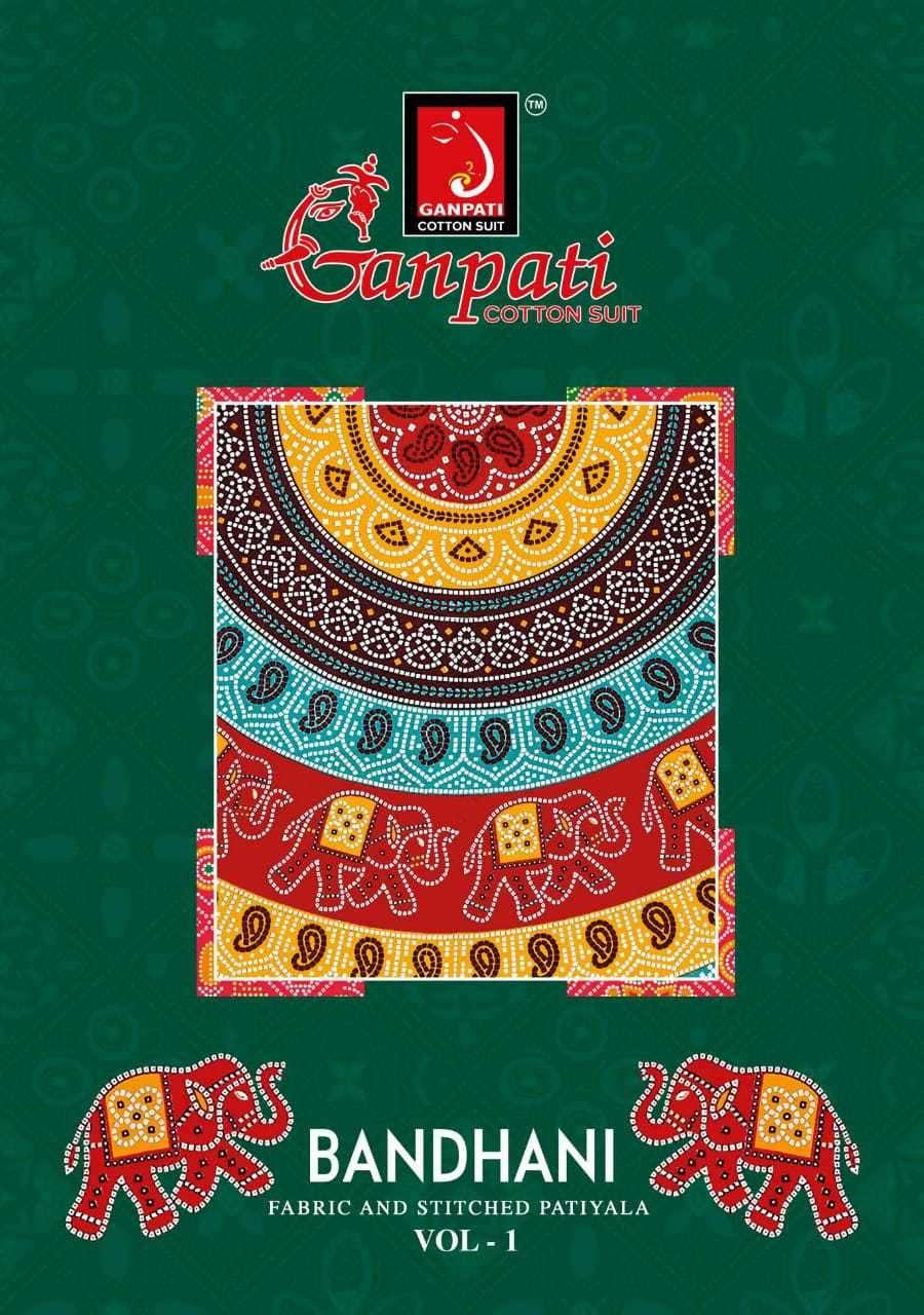 Ganpati Cotton Bandhani vol 1 Unstitched Patiala Cotton Suits Wholesale
