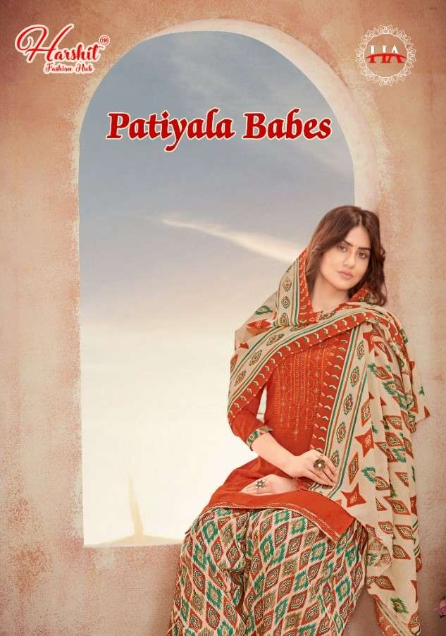 Harshit Patiyala bades Punjabi Cotton Suit Catalog Wholesaler