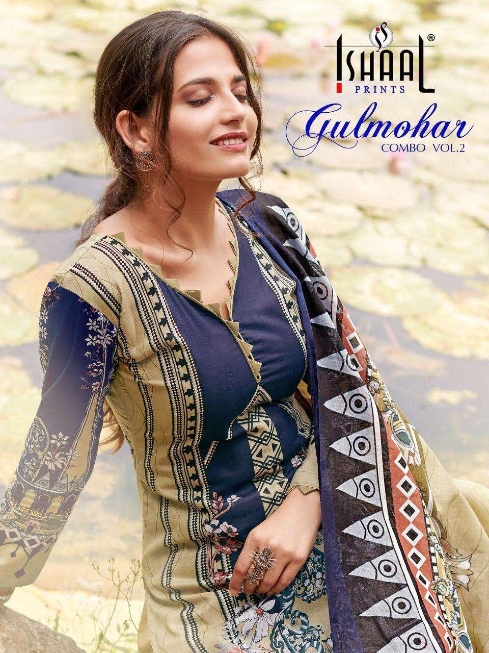 Ishaal Prints Gulmohar Combo Vol 2 Karachi Print Suit Catalog Buy Online