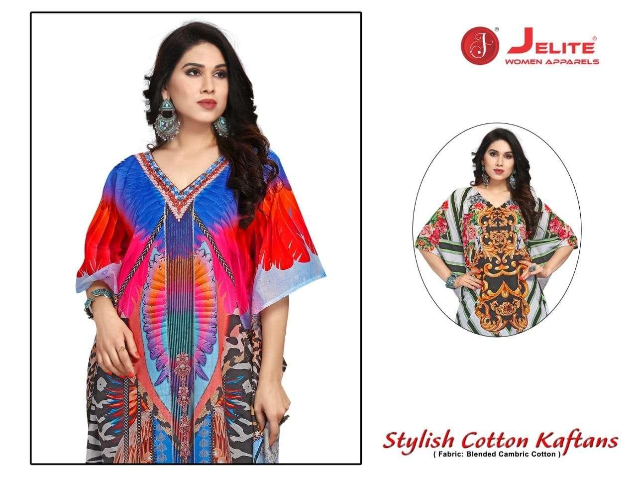 Jelite Stylish Cotton kaftan Exclusive Digital Printed Kaftan catalog Wholesaler