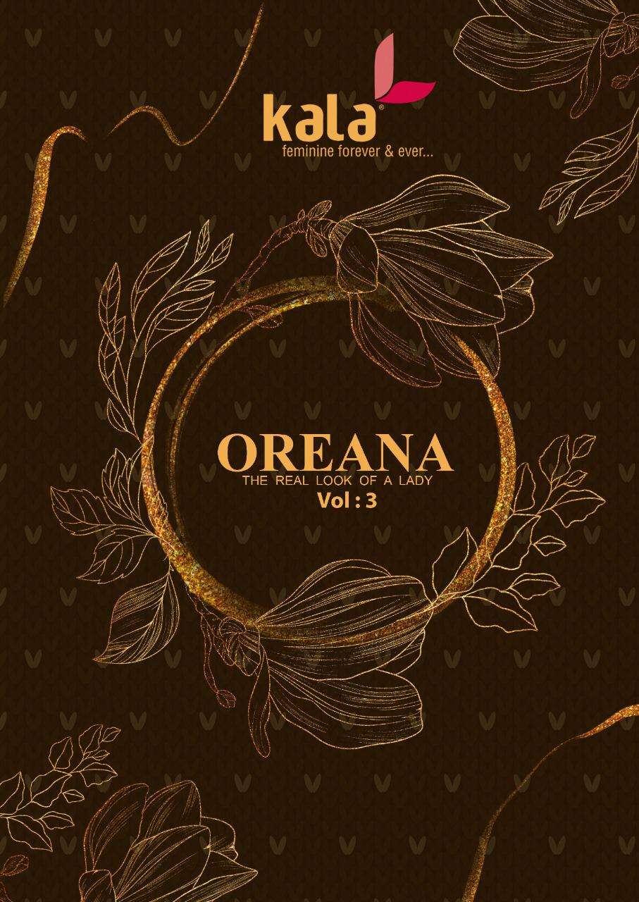 Kala Oreana Vol 3 Printed Cotton Dress Material New Catalog in Wholesale price