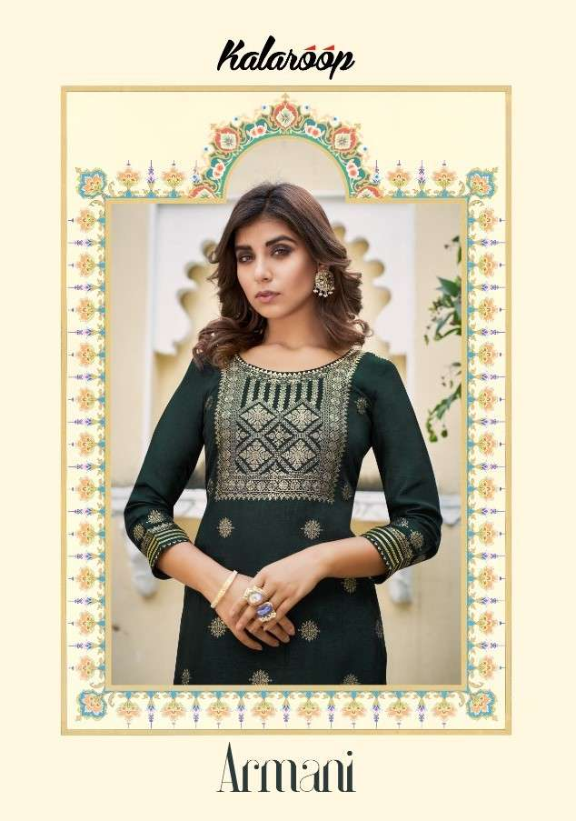 Kalaroop Armani By Kajree Designer Kurti Pant Set Combo at Best Rate