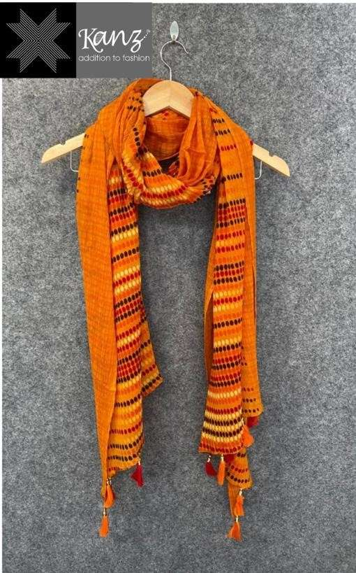 Kanz Scarf Silky Printed Stole New catalog Wholesaler