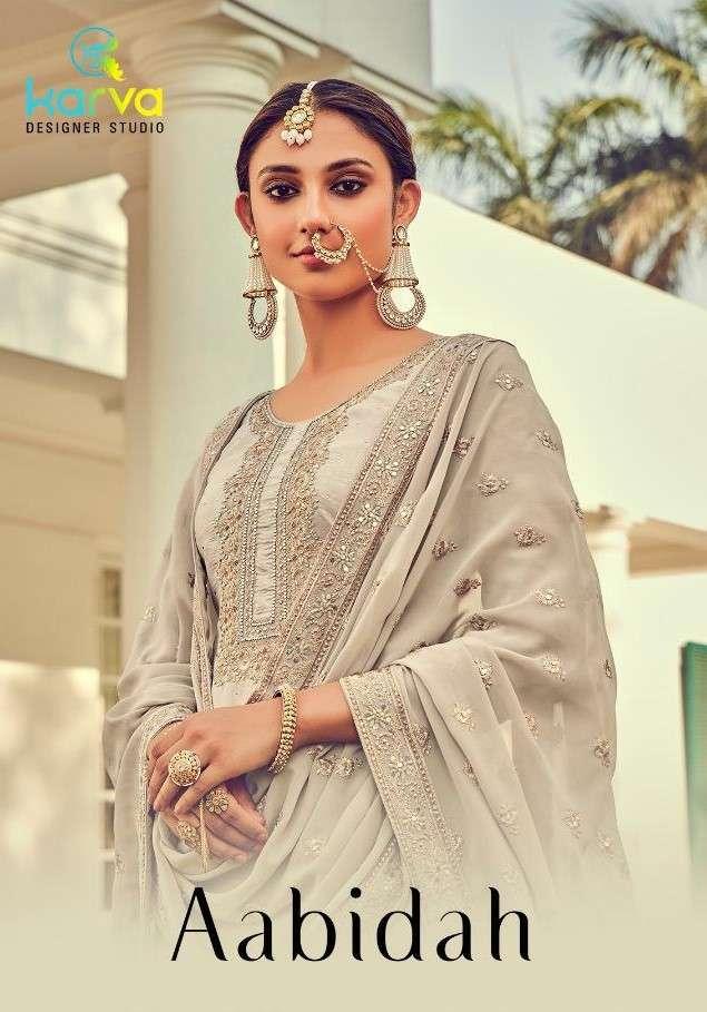Karva Designer Studio Aabidah designer Silk Salwar Suit Catalog Wholesaler
