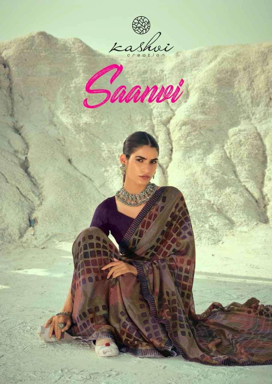 Kashvi Saanvi Chiffon Brasso Printed Wholesale Catalogue Price Dealer