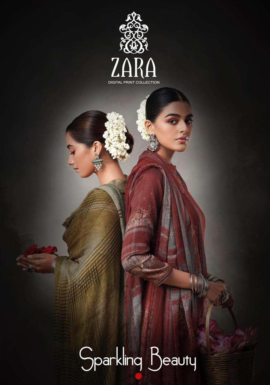 Kesar Zara Sparkling Beauty By karachi Print Cotton Salwar kameez Catalog Supplier