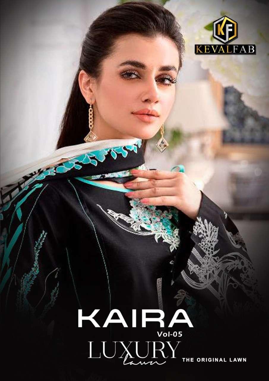 Keval Fab Kaira Vol 5 Karachi Print Suit New Catalog Buy Online