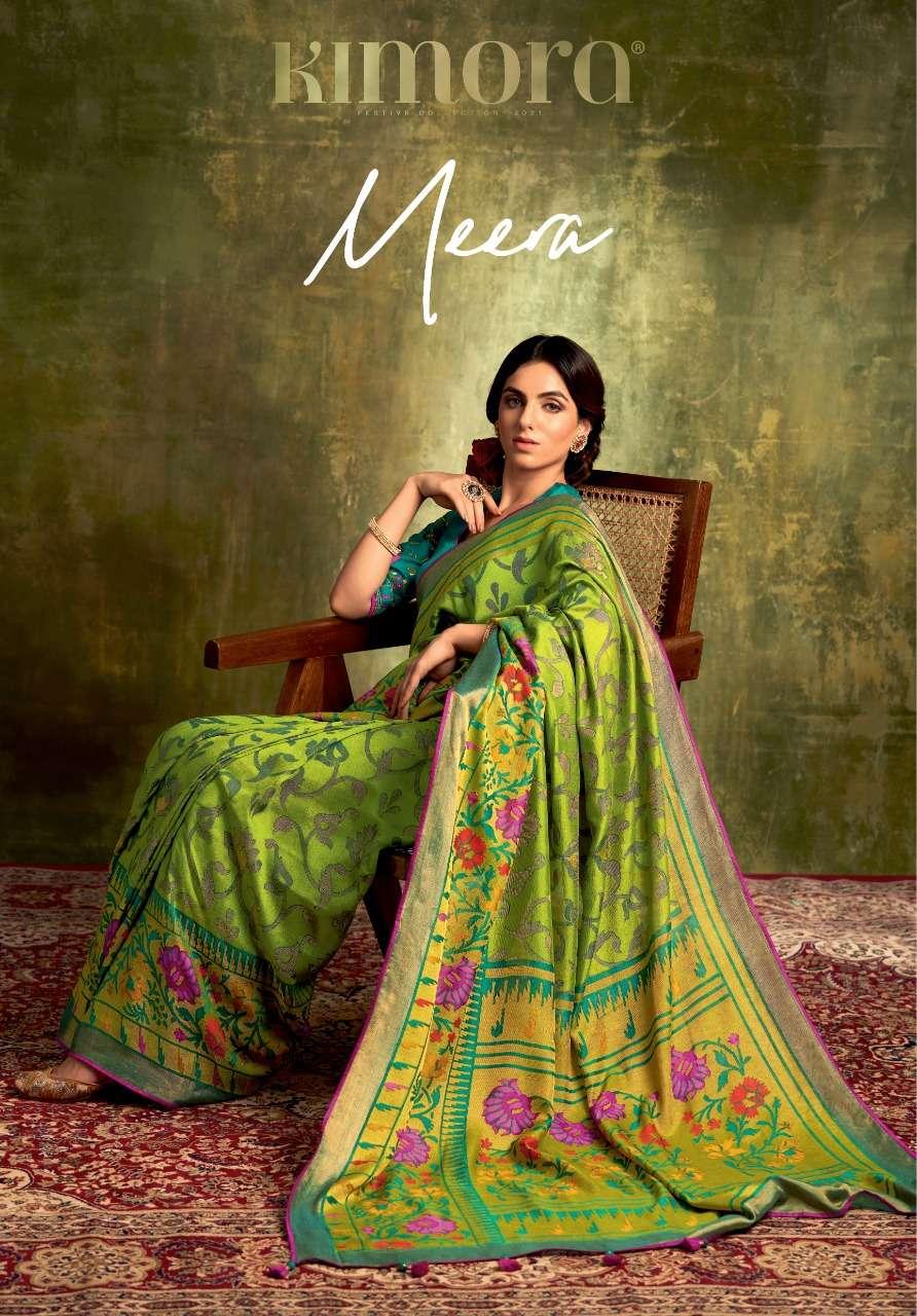 Kimora Meera Designer Party Wear Brasso Saree New Catalog in Wholesale Price