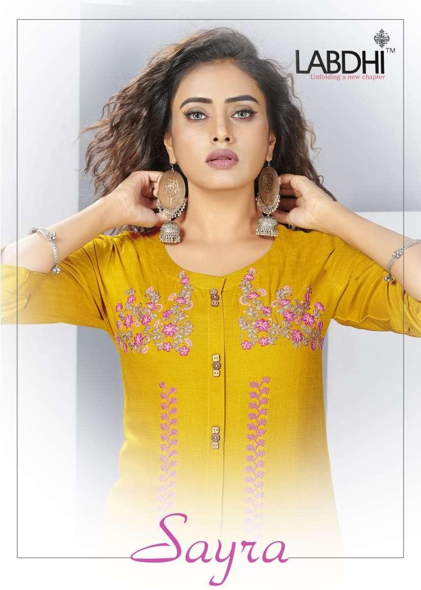 Labdhi Sayra Exclusive Rayon Kurti Cotton Pant Set Collection