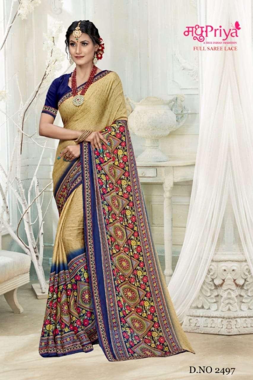 Madhupriya Nitya Exclusive Chiffon Saree Catalog Wholesaler