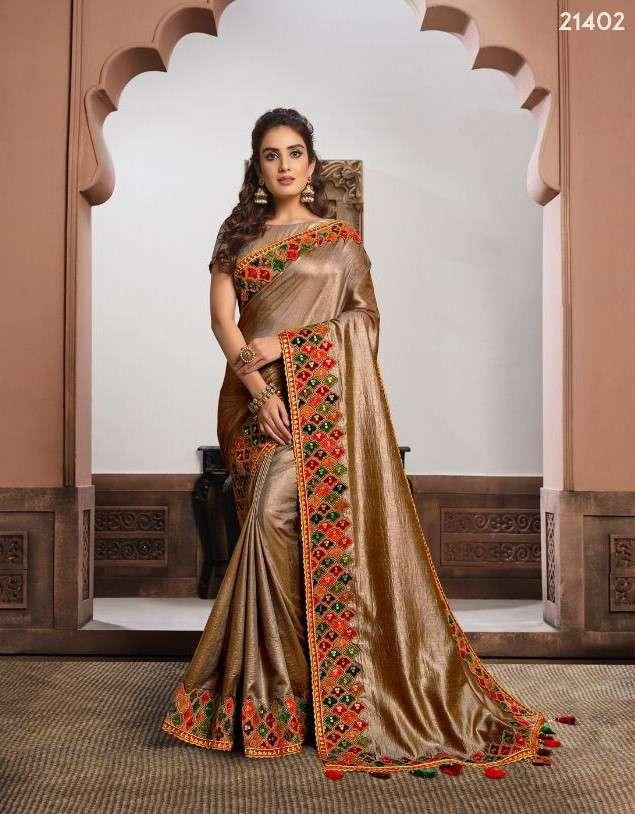 Mahotsav Sharvari 21402 to 21411 Series designer Party Wear Saree Designs