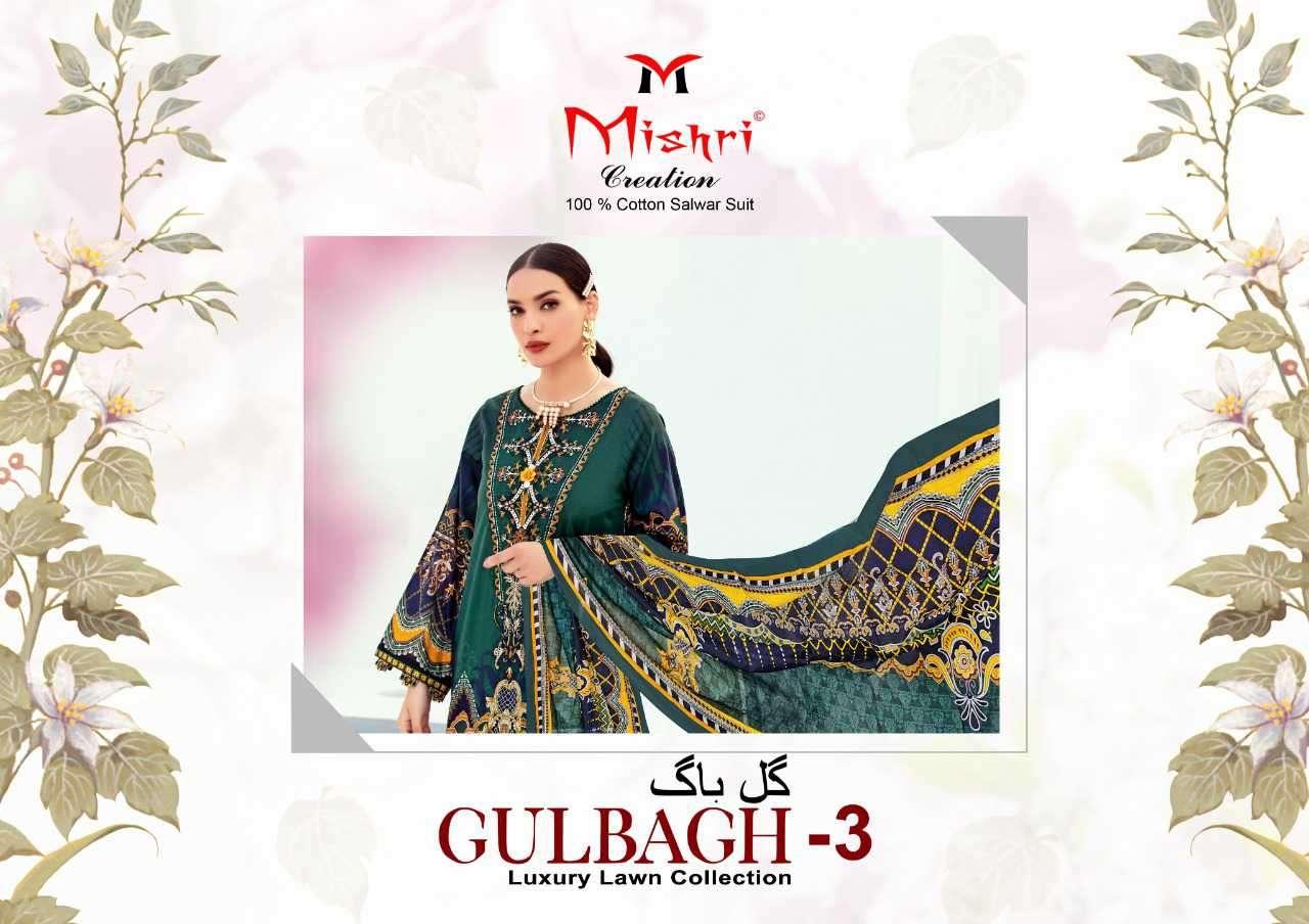 Mishri Gulbagh Vol 3 Printed Karachi Cotton Suit Dealer Price