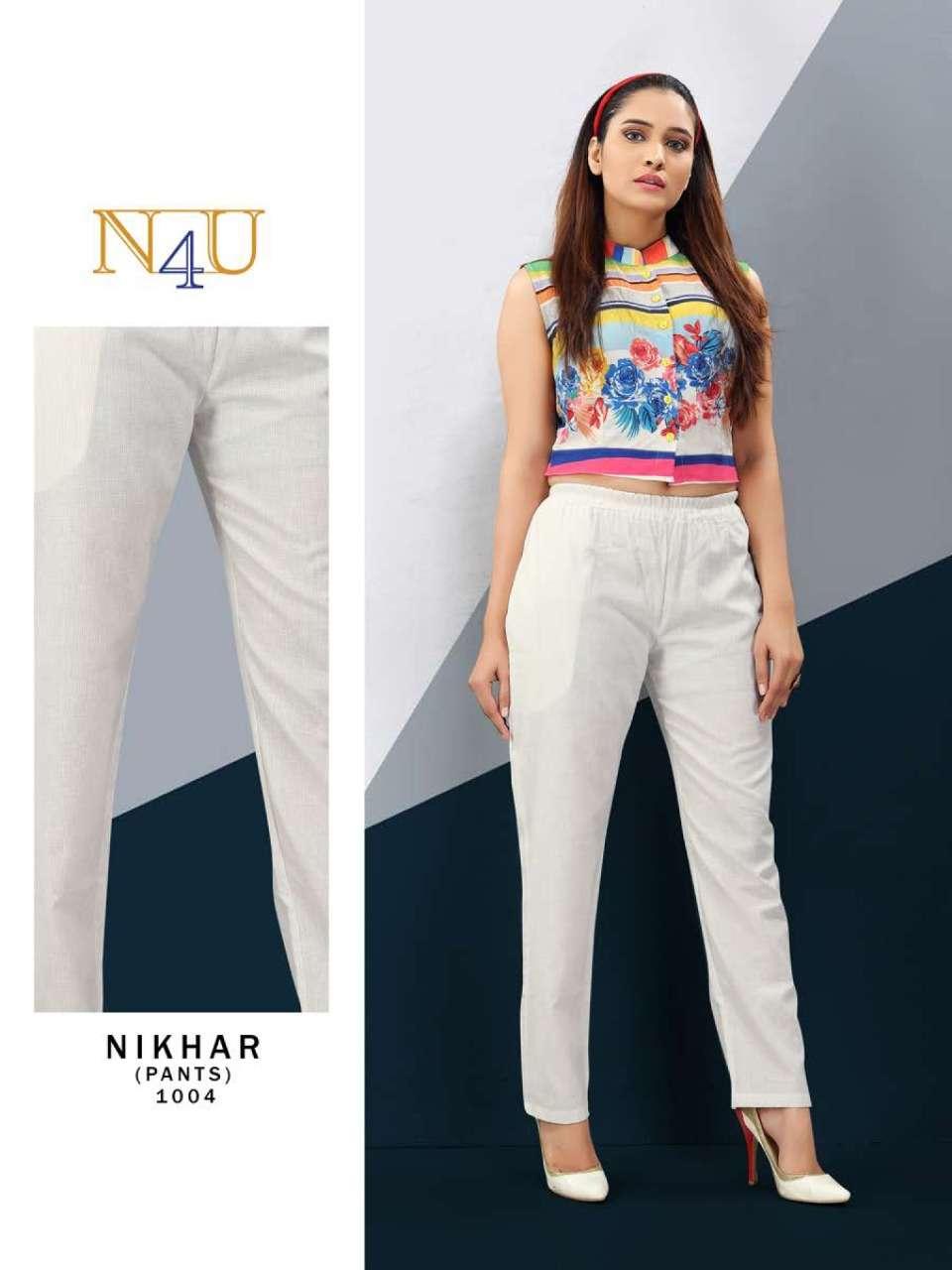N4U Nikhar NX By tunic House Cotton pant New catalog Buy Online