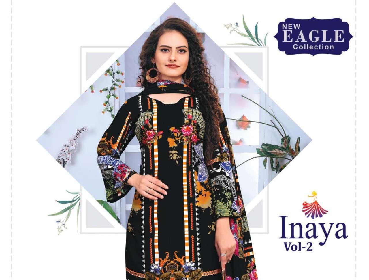 New Eagle Collection Inaya Vol 2 Printed Karachi Dress Material Catalog Wholesaler