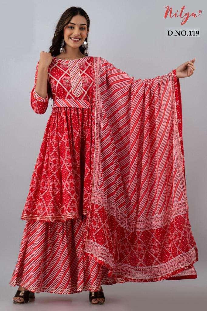 Nitya 119 and 120 Cotton Fancy Sharara Style Readymade Collection