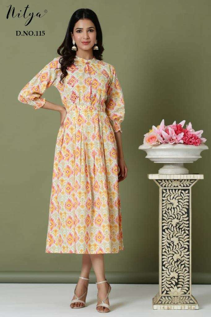 Nitya Design No 110 to 116 Fancy Cotton Kurti Size Set Collection