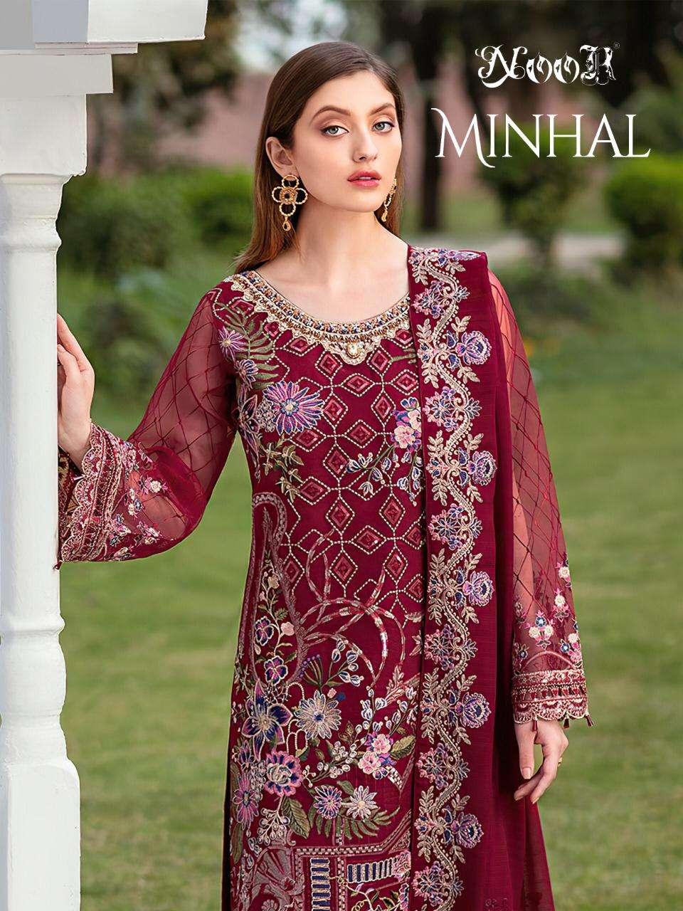 Noor Minhal Exclusive fancy Pakistani Suit New Catalog Wholesale Price