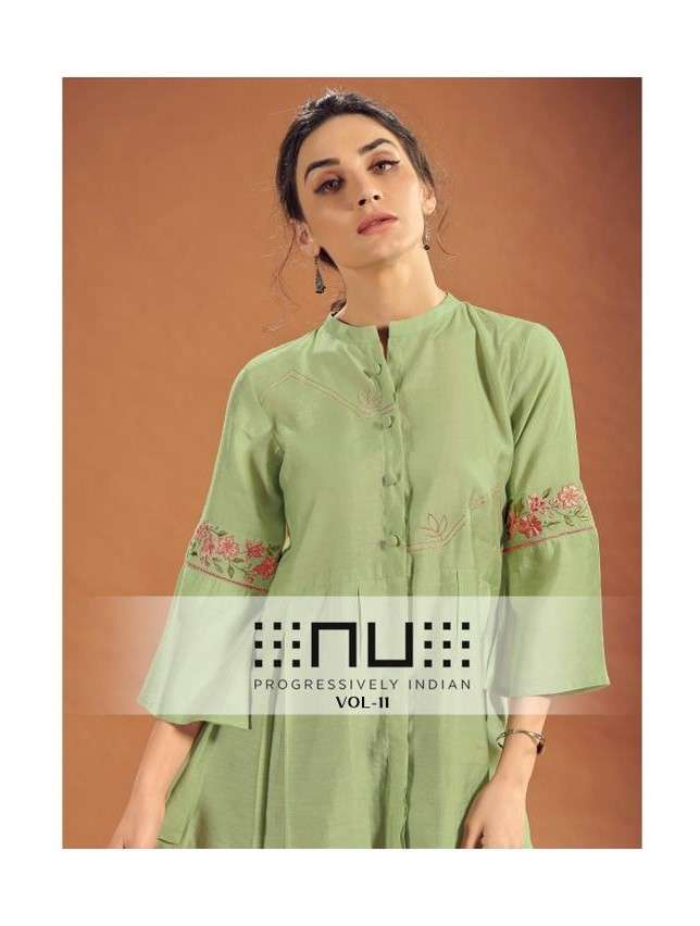 NU Vol 11 Stylish Viscose Silk Tops With Embroidery Collection