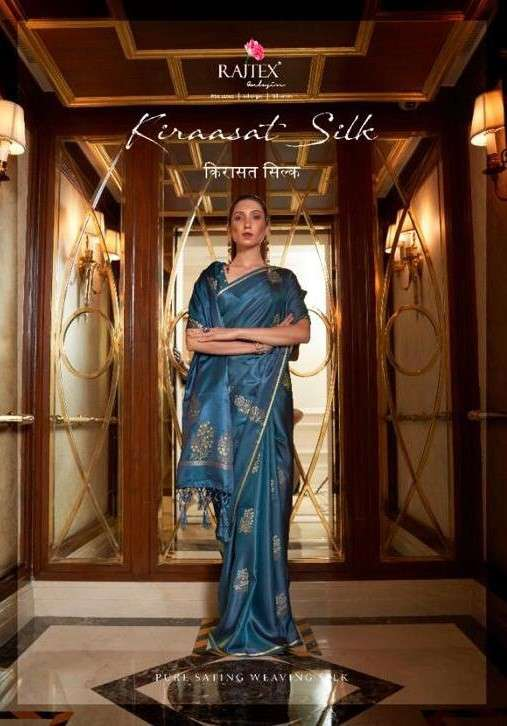 Rajtex Kiraasat Silk Satin Weaving Silk Saree Catalog Wholesale