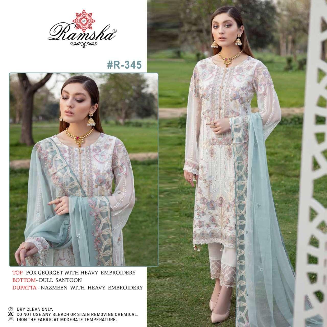 Ramsha Vol 20 R343 R344 R345 R356 Designer Pakistani Suit Collection