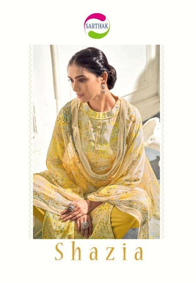 Rudrinee Shazia By Sarthak Prints Fancy Printed Muslin Ladies Suit Collection