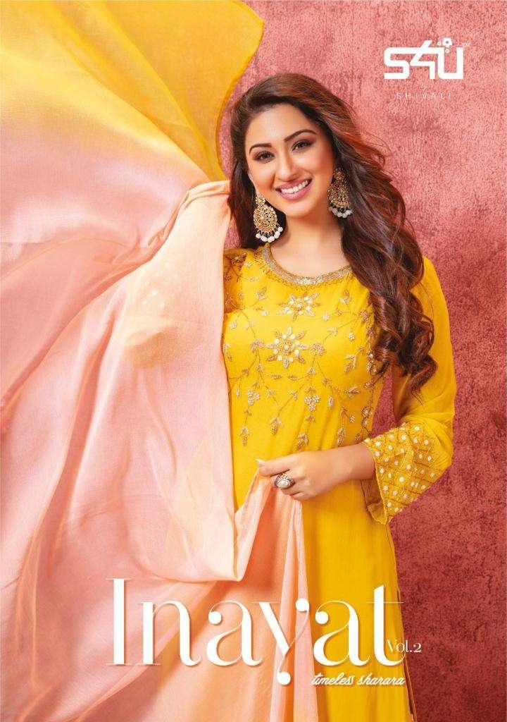 S4U Inayat Vol 2 By Shivali Designer Readymade Kurti Sharara Dupatta Set Collection
