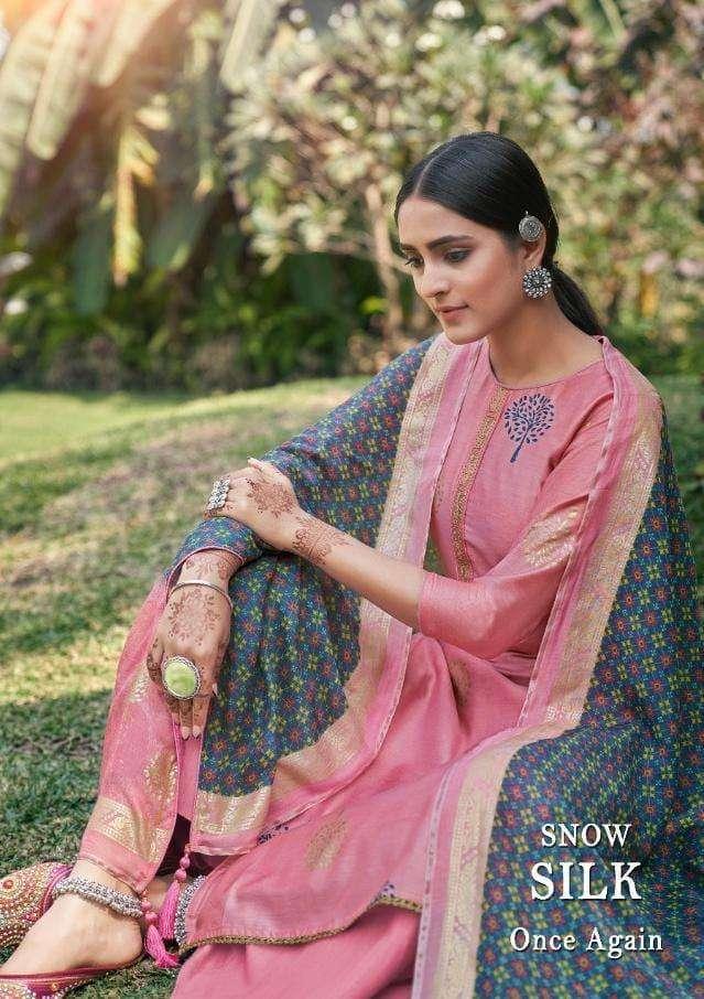 Salvi Fashion Snow Silk By Supriya Exclusive Silk Salwar Suit Wholesaler