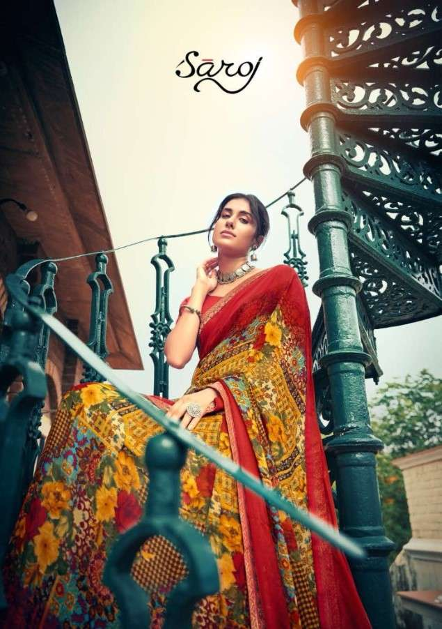 Saroj Sarees Victoria Vol 2 Printed Georgette Saree New designs