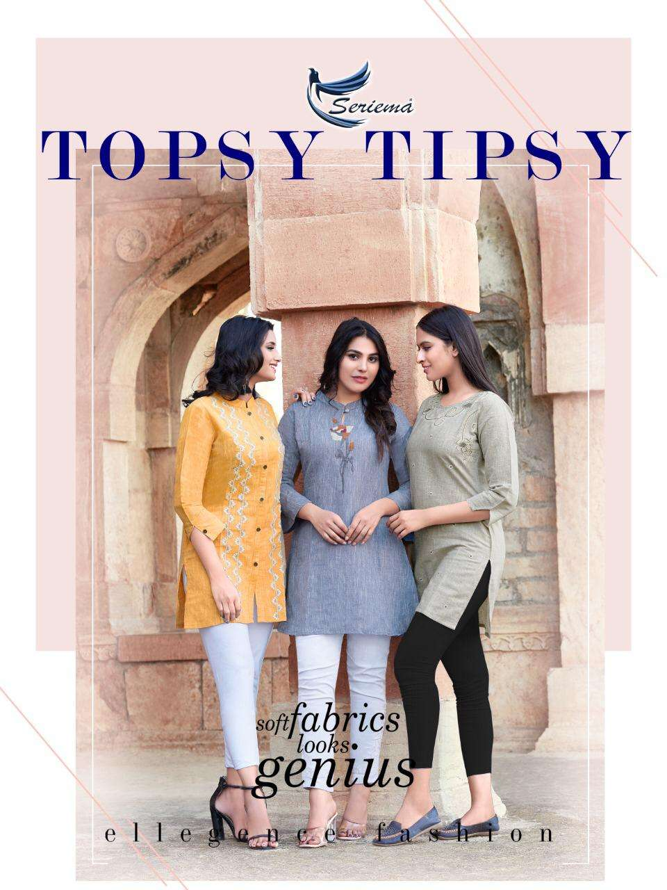 Seriema Topsy Tipsy By Sparrow Cotton Tops With Embroidery Catalog