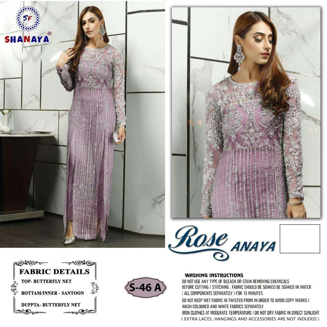 Shanaya Rose Anaya S 46 Designer Pakistani Suit Collection