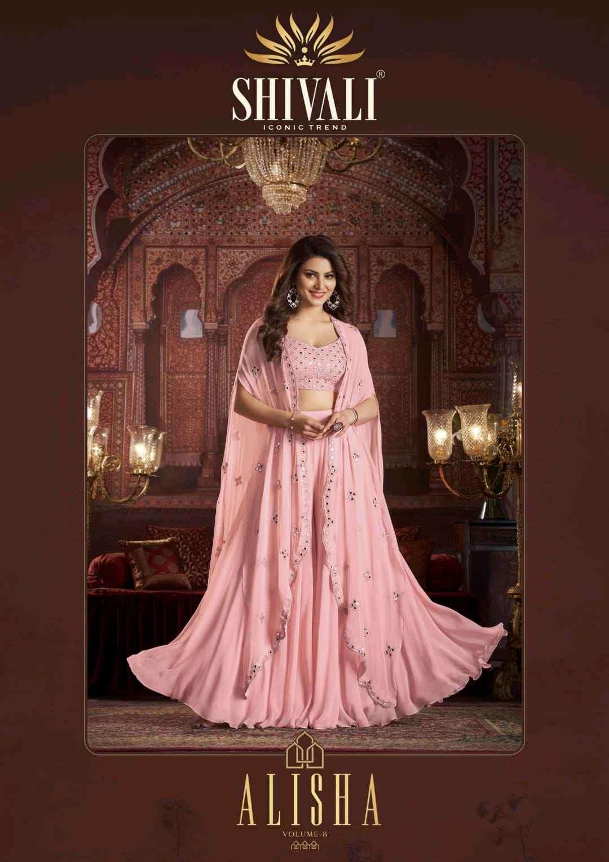 Shivali Alisha Vol 8 Designer Partywear Collection Wholesale Price