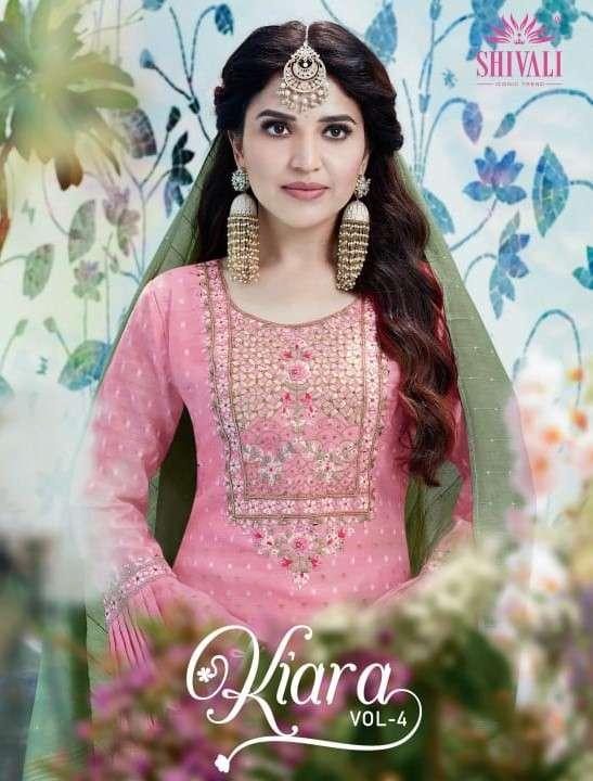 Shivali Kiara Vol 4 Designer Party Wear Kurti Plazzo Dupatta Set Collection