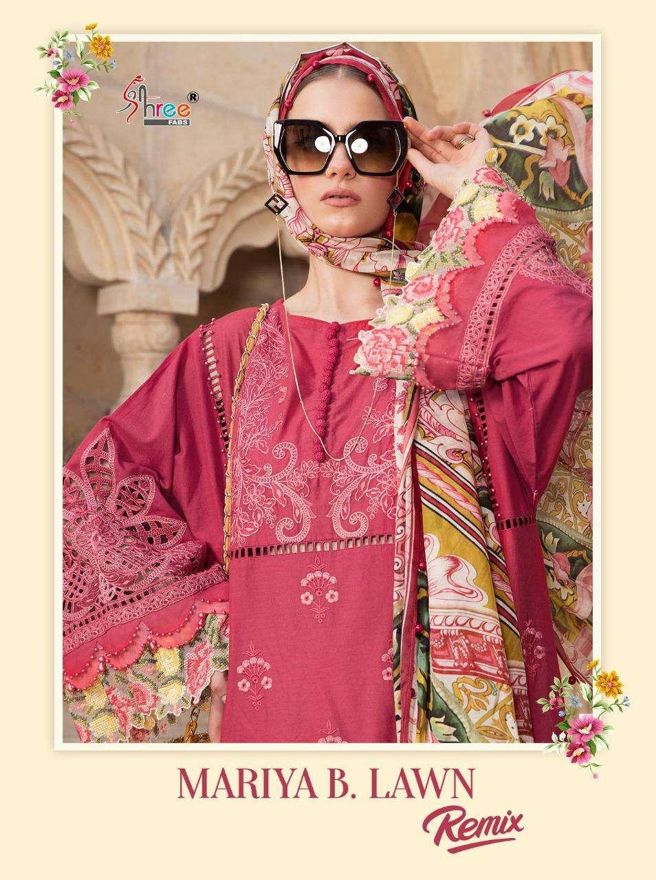 Shree Fabs Mariya B Lawn Remix Paksitani Cotton Suit Catalogue