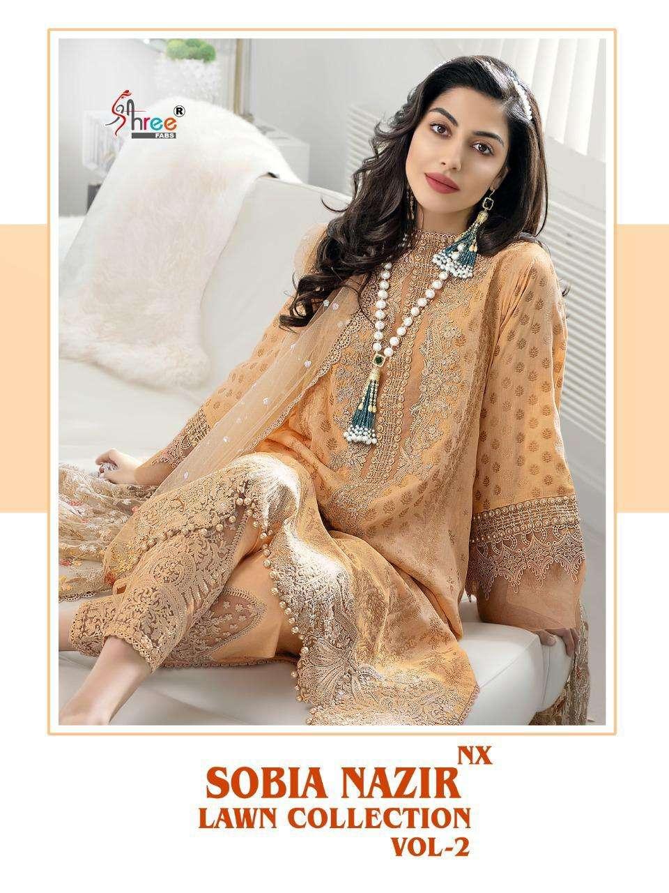 Shree Fabs Sobia Nazir Lawn Collection Vol 2 NX Designer Pakistani Suit Wholesaler