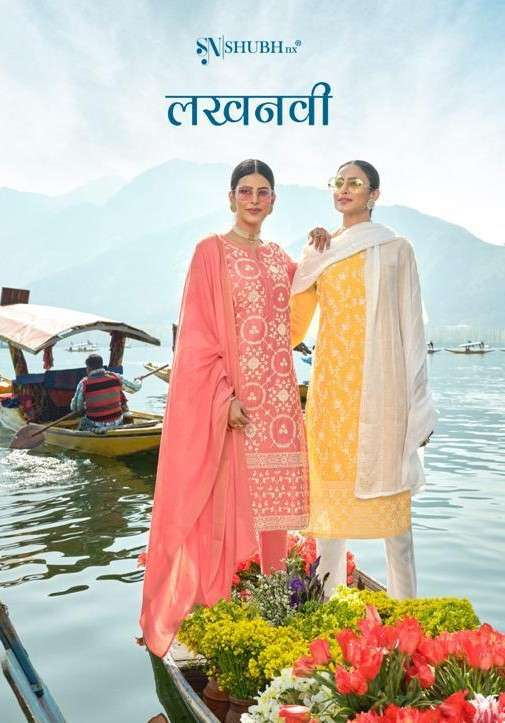 Shubh NX Lucknowi Exclusive Lucknowi Work 3 Piece Set Collection