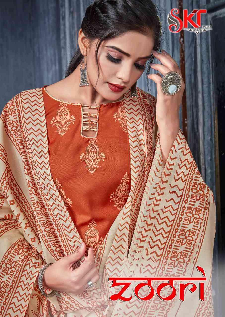 SKT Suits Zoori Cotton Print Salwar Suit Wholesale Low Price