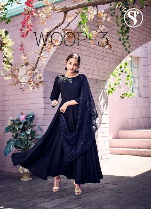 Sweety Woop Vol 3 Exclusive Kurti Gown With Dupatta Set Collection