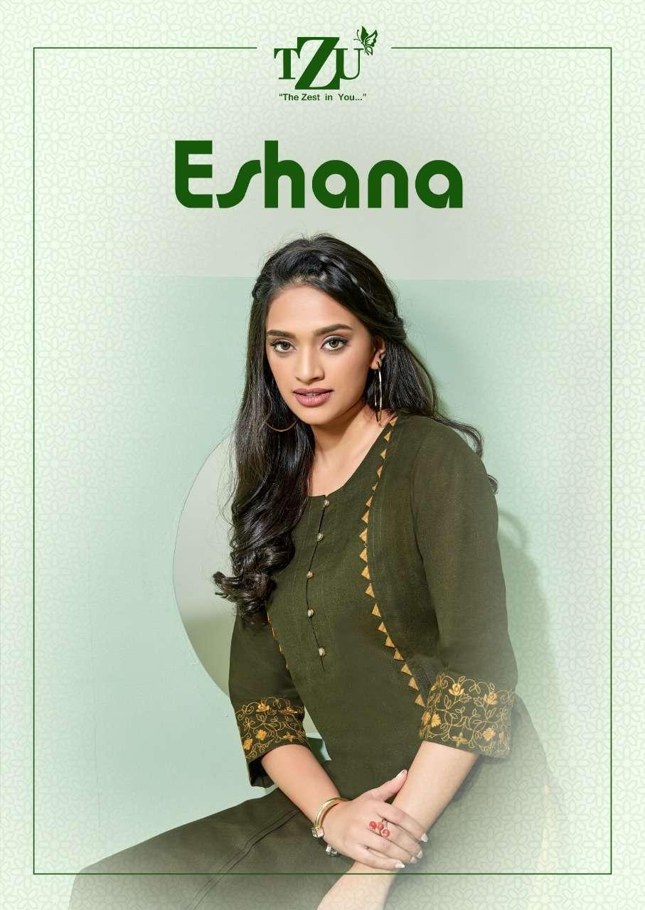 TZU Lifestyle Eshana Fancy Cotton Kurti pent Set New Catalog Wholesale Price