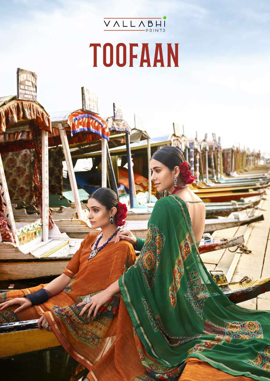 Vallabhi Toofan Weightless Printed Saree Catalog Wholesale Dealer