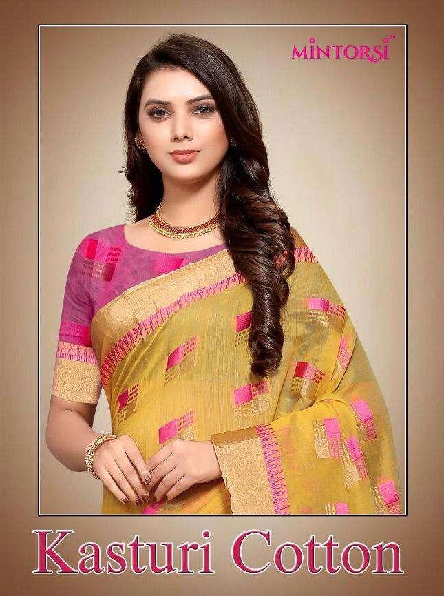 Varsiddhi Mintorsi Kasturi Cotton fancy Indian Saree Catalog Wholesaler