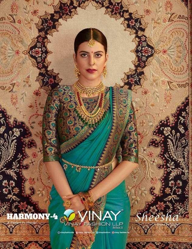 Vinay Fashion Sheesha Harmony Vol 4 Designer Silk Saree Collection at Best Rate