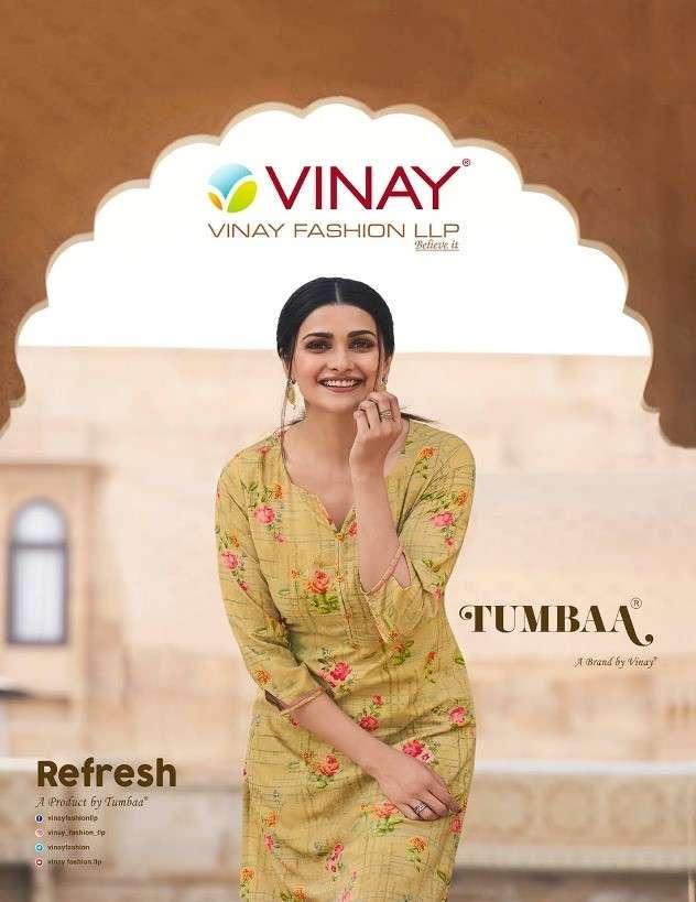 Vinay Fashion Tumbaa Refresh Exclusive Kurti Pant Combo Set Collection