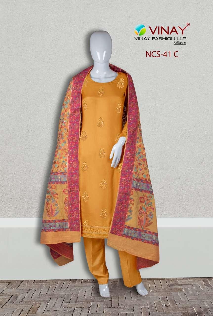 Vinay NCS 41 Viscose Maslin Fancy Suits Online