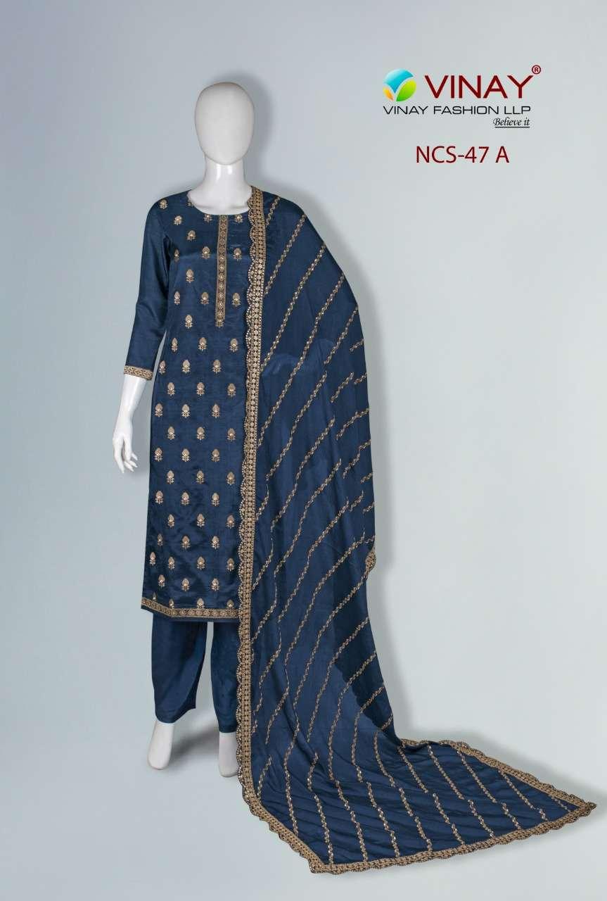 Vinay NCS 47 Pure Viscose Dola Salwar Suit Non Catalog