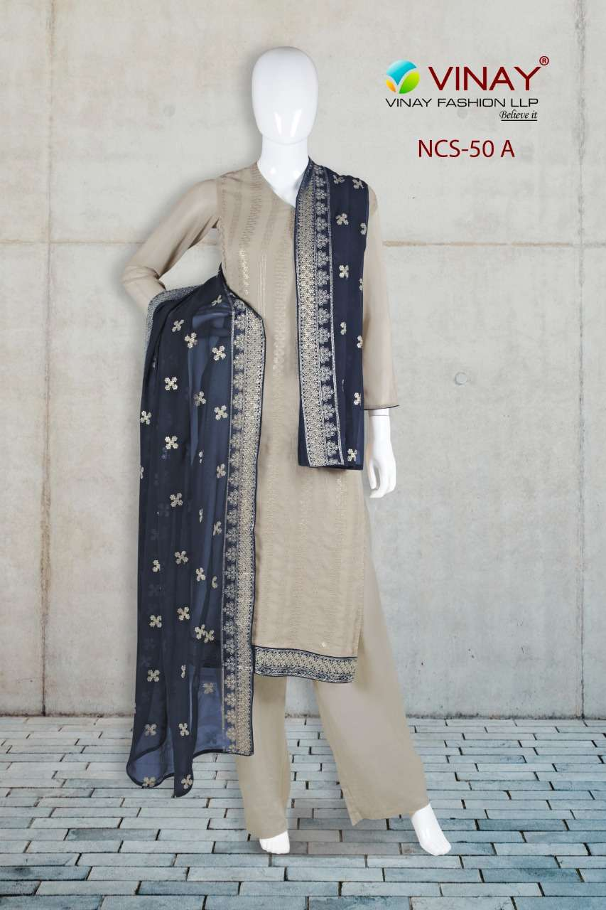Vinay NCS 50 Straight Partywear Ethnic Collection Suits